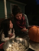 popcorn and pumpkin carving tradition