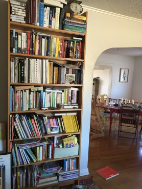 bookcase in entry, crazy, ha.