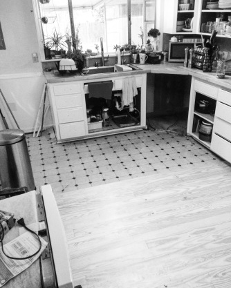 kitchen still in process
