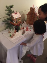 Her favorite gingerbread house
