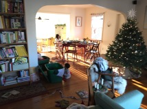 crazy mess, but Emmy is working on her ornament time capsule in the background