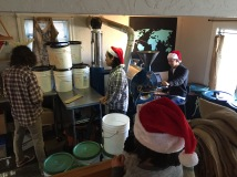 roastery party and mandatory christmas pic.