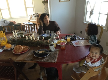 New Year's Brunch: casting of vision, reflecting on top 10s, and general goofing around together